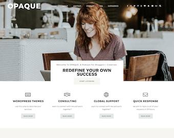 "Responsive Wordpress Theme ""Opaque"" |  Website Design Podcast Business Theme Designer Premade Blog Theme Design"