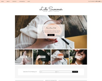 "Responsive Wordpress Theme ""Late Summer"" // Blog Design Instant Download Template"