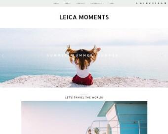 "Responsive Wordpress Theme ""My Leica Moments"" //  Photography Slider Instant Digital Download Premade Blog Theme Design"