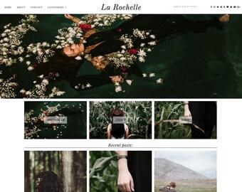 "Responsive Wordpress Theme ""La Rochelle"" // Photography Grid Portfolio Premade Blog Template Design"