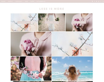 Blogger Template LESS IS MORE // Responsive Premade Blog Theme Design Simple Modern