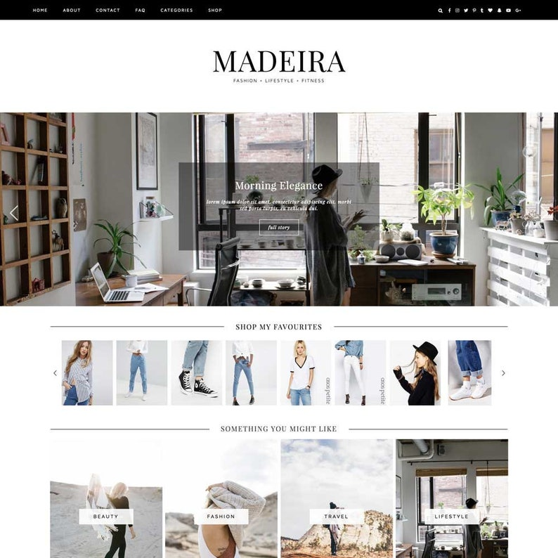 Wordpress Theme Madeira / Responsive Instant image 0