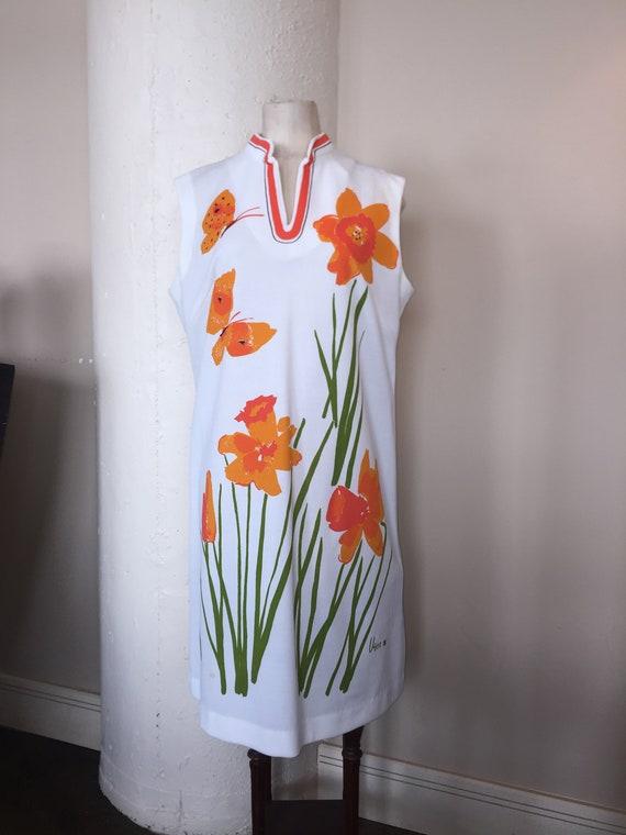 Vera Neumann summer dress, A Line style, mod 1960'