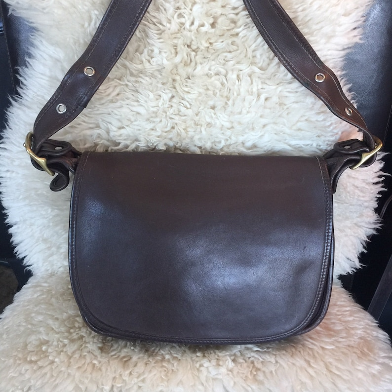515e7161 Coach Patricia's Legacy bag in tabac brown leather, Coach crossbody bag,  9951 style, made in USA, leather messenger bag