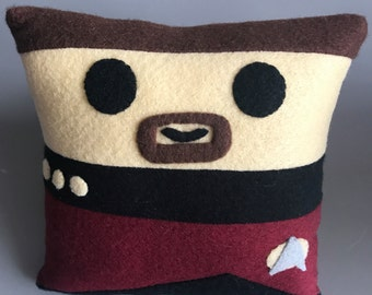 Star Trek Commander William Riker Mini Felt Cushion