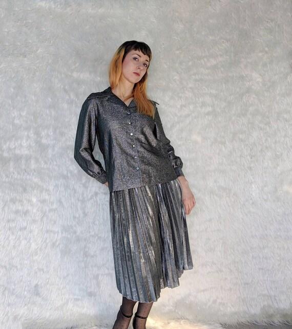 Vintage 1960s Brentwood Originals Silver Lurex But