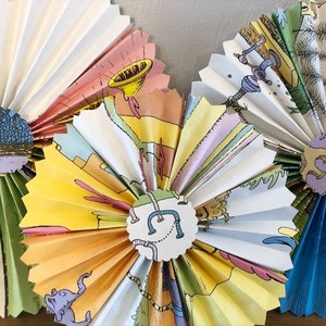 Oh the Places Paper Fans-small-Oh the Places Rosettes-Oh the Places Pinwheels-Oh the Places You/'ll Go Baby Shower