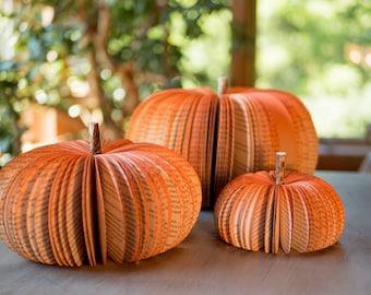 Book Pumpkins-Fall Decor-Thanksgiving Table Decor-Halloween Decor-Thanksgiving Decor-Fall Pumpkin-Autumn Decor-Cottage Core Paper Decor