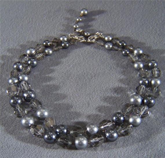 Vintage Designer Signed Marvella 2 strand silver G