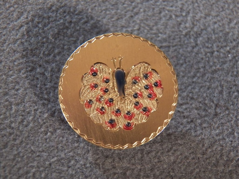 Vintage VAN DELL Gold Filled Stunning Peacock Theme Enameled Pin Brooch Fabulous!~~ **RL