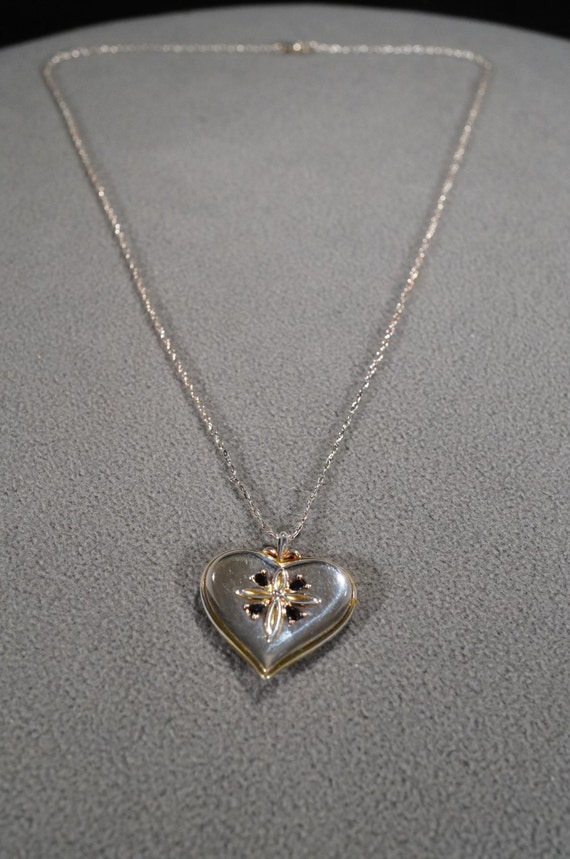 Stunning Sterling Silver Puffy Heart Necklace on a 29 Sterling Chain