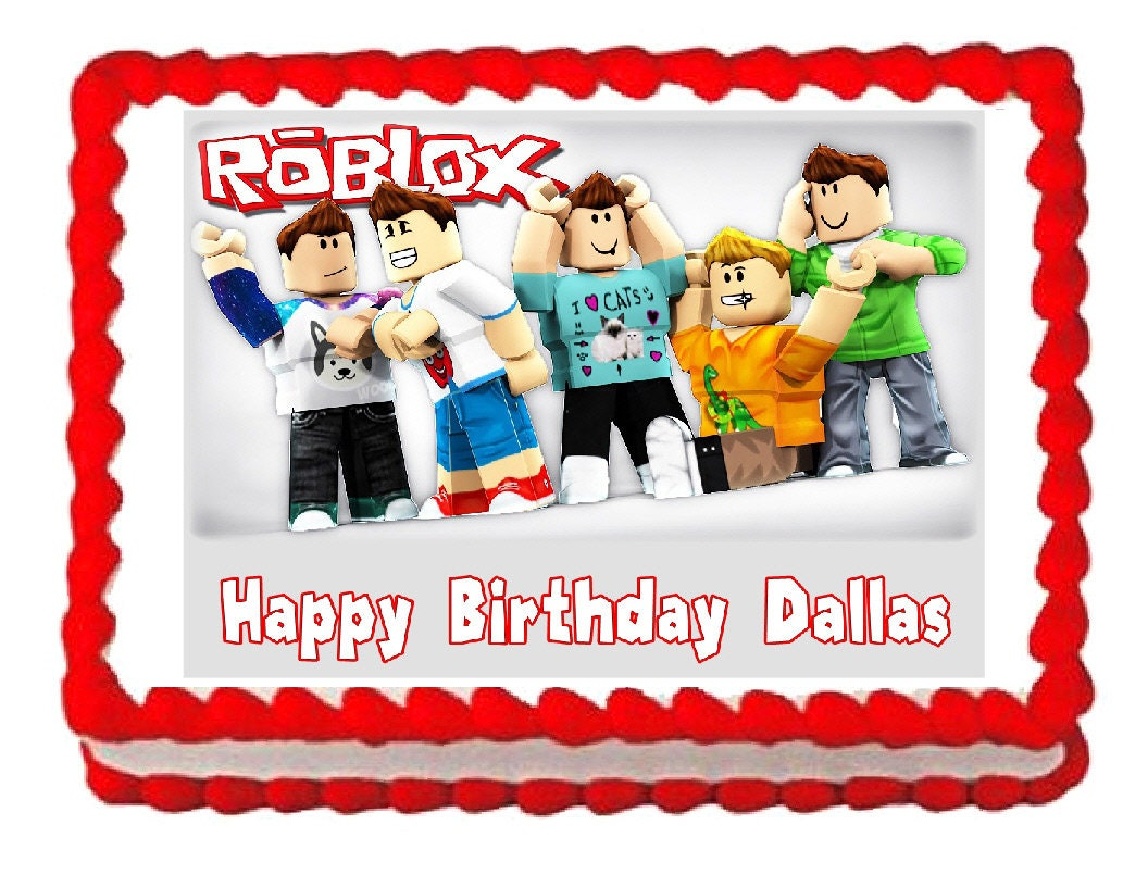 Roblox Party Decoration Edible Cake Image Cake Topper