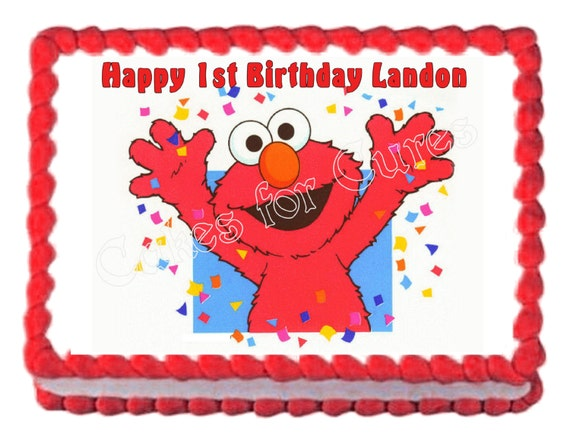 Elmo Party Decoration Edible Cake Image Frosting Sheet