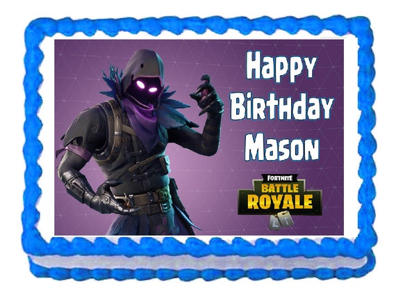 Fortnite Raven Party Edible Cake Image Cake Topper