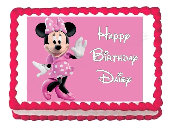 Minnie Mouse Edible Cake Image Cake Topper Frosting Sheet Etsy