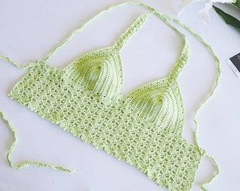 Crochet summer top /bralette /bikini top (model Varenna)