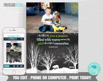 Family Christmas Card, Christmas Photo Card, Christmas Card, Christmas Card Digital File, Editable Template Printable Download #29