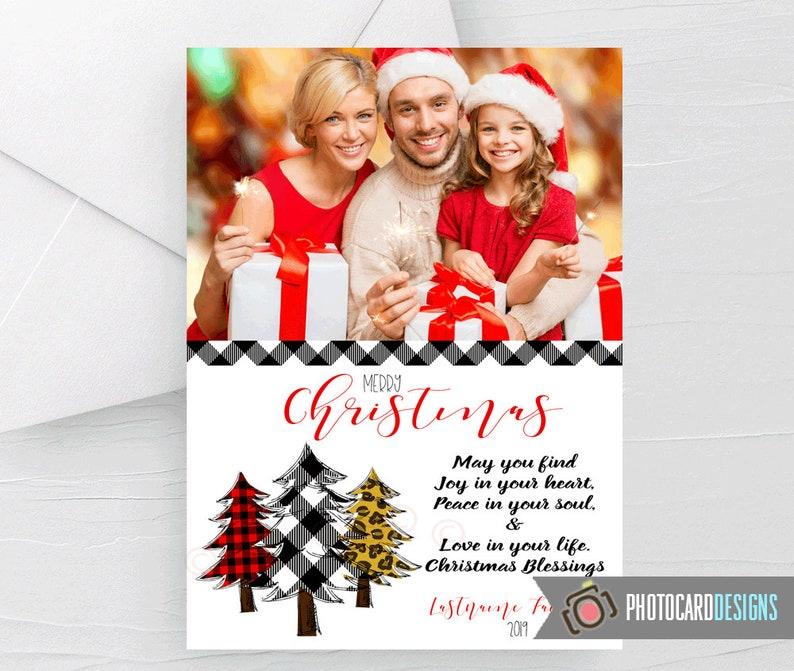 Christmas Card Three Trees Christmas Photo Card Buffalo image 0