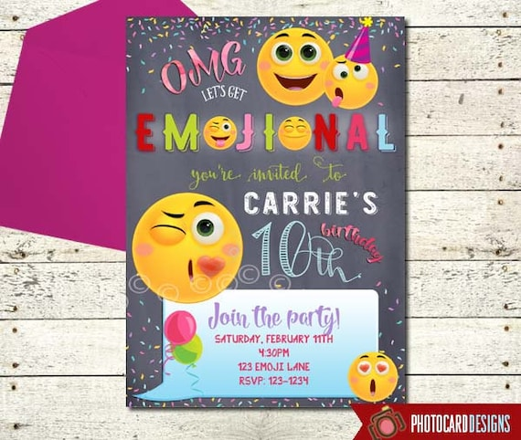 Emoji Invitation Birthday Party