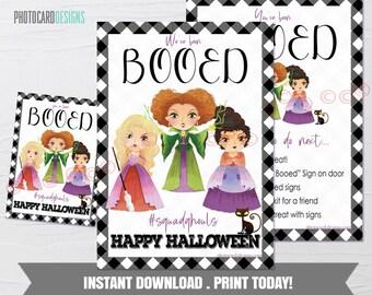 Boo Kit, We've been Booed Sign, You've been Booed Printable, Halloween Game, Kids Halloween Treat, Neighborhood Game, Digital DOWNLOAD