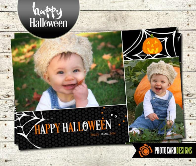 Halloween Photo Card Spider Halloween Halloween Costume image 0