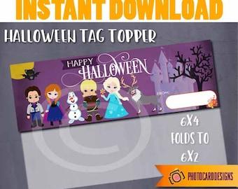 Princess Tag, Princess Bag Topper, Princess Halloween Tag, Halloween Tag, Frozen Tag, Halloween, Digital, School Treat Bag, DOWNLOAD