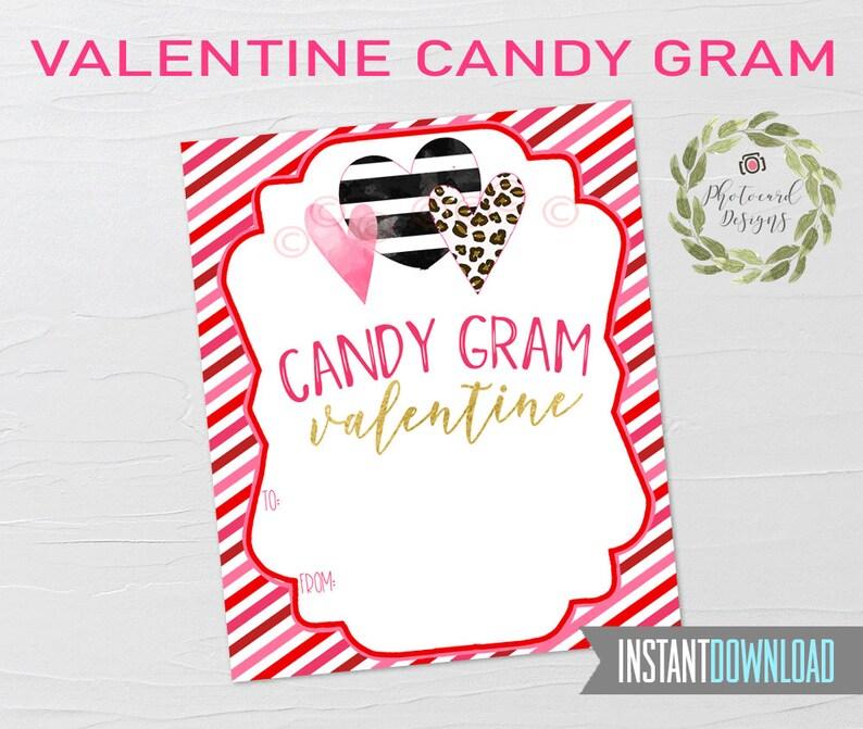 Valentine Candy Gram Heart Valentines School Valentines image 0