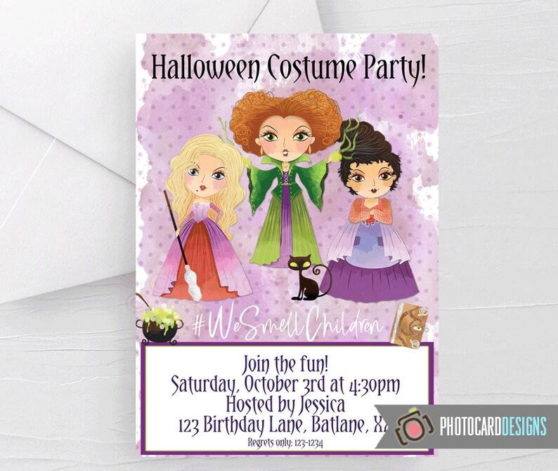 Witch Halloween Invitation Hocus Pocus Hocus Pocus image 0