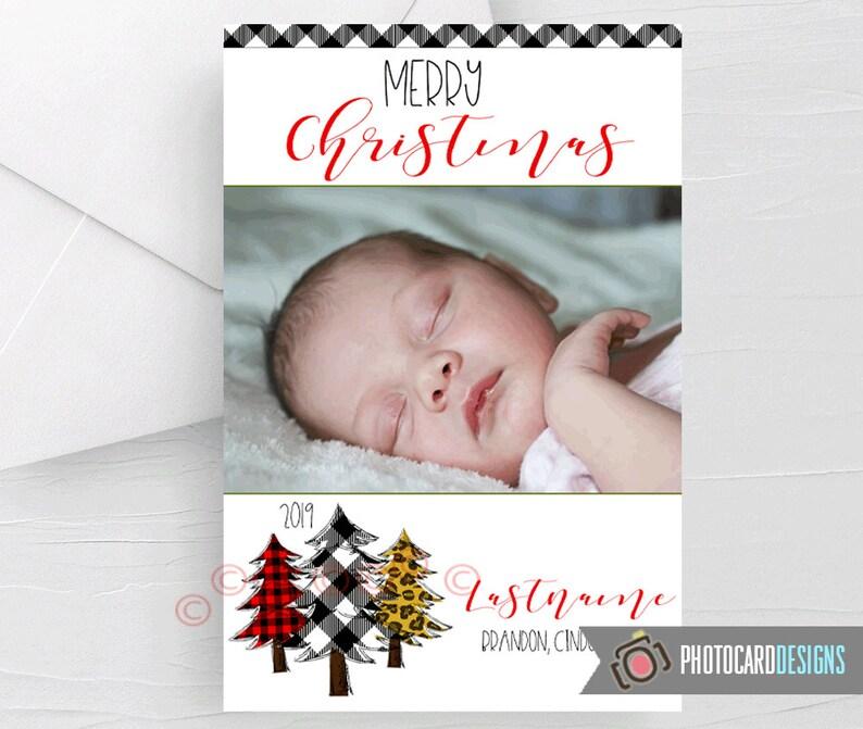 3 Tree Christmas Card Merry Christmas Card Christmas Card image 0