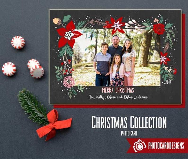 Family Christmas Card Christmas Photo Card Christmas Card image 0