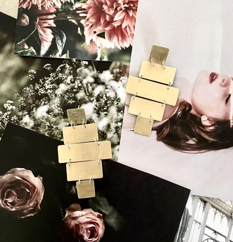 Transform : Handmade Minimalist Statement Earrings  Hammerd image 0