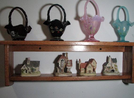 Amish Style Decorative Oak Wall Shelf 35 Display Shelf | Etsy