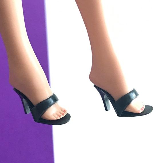 Vintage Barbie Red Open Toe OT Heels Shoes Mules JAPAN