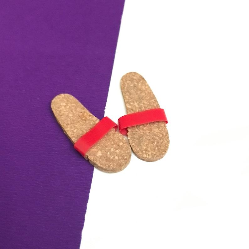 bc18f1312fcbd Vintage Ken Doll Cork Sandals Shoes to Ken Original Swim Ensemble