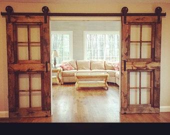 Custom 6 Pane Window Door 80x36 White Etsy