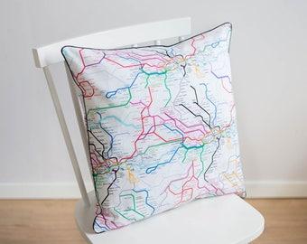 Dc Subway Map Pillow.Metro Map Lines Etsy