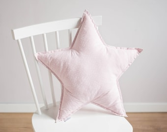 Star pillow - floral pattern