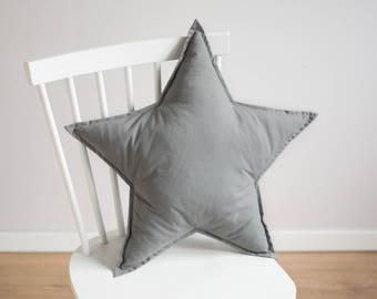 Star pillow - gray