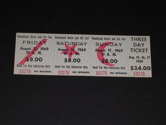 Rare Vintage 1969 Woodstock Art Music Festival Three Day Etsy