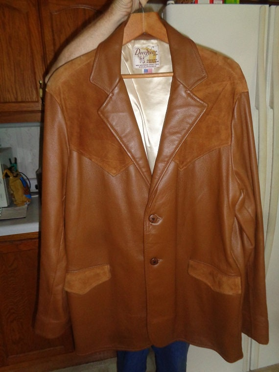 Mans Vintage 1960s Era Rockabillyor Western Type Leather And Etsy
