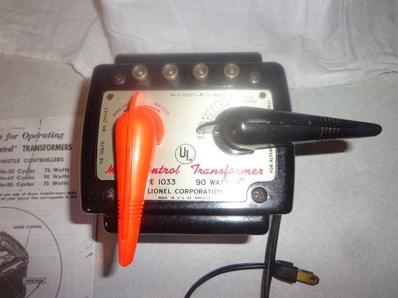 Hook up Lionel train transformateur type 1033