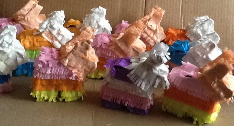 13 Mini Donkey Pi\u00f1atas 4x4x112 Custum order!