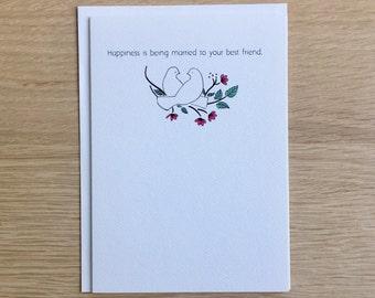 Funny Sarcastic Anniversary Card - Doves