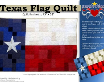 Pattern: Texas Flag Quilt