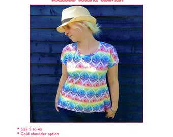 Ladies Diana Dolman top and tunic PDF sewing pattern sizes s-4x
