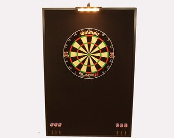 Custom Led Lighted Dartboard Cabinets Dart By Jaysprojects