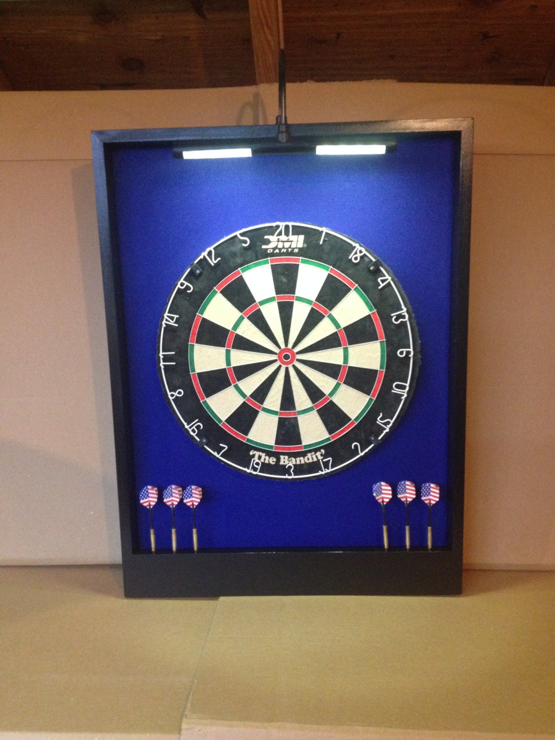 Led Lighted Royal Blue And Black Trim Custom Dart Board Etsy Comerica Wiring Instructions Zoom