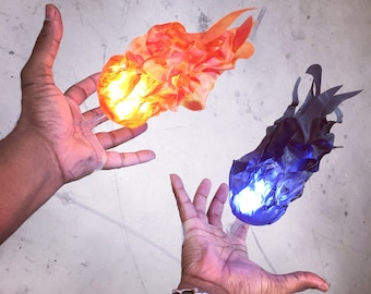 Floating fireball prop 2.0 ( cosplay, convention, halloween )