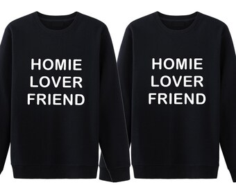 Homie Matching Couple Sweatshirt, Couple Sweater, Cute Couple Hoodie, Couple Sweatshirt, Anniversary Gift, Gift For Couple, Pärchen Pullover