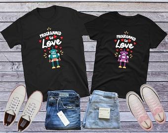 367a9769 Geek Couple T-shirt, Nerd Couple, Robot Couple, Matching Couple Shirt,  Robot Lovers Gift, Couple Gift, Programmer Couple, Anniversary Gift